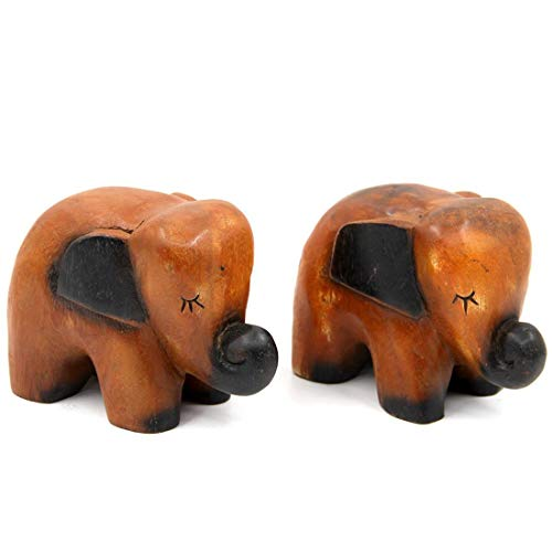 BaAnne New Home Furnishing solid Wood Hand Carved small Elephant Creative Gifts Home Office Hotel Decorative Arts and Crafts Large