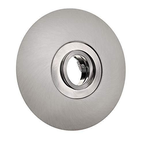 Einbaustrahler für große Lochausschnitte 68-180mm Aluminium Spot Einbauleuchte Einbauspot schwenkbar Edelstahl geb. DSK1 GU10-230V