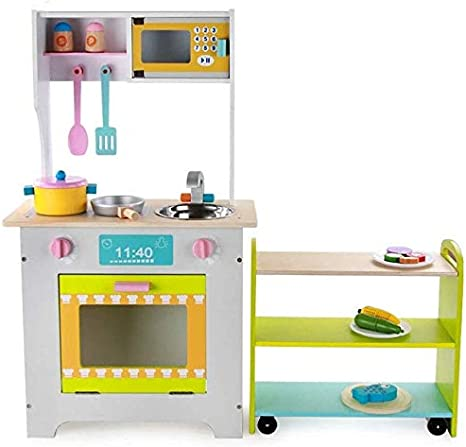 Amazon Com Brainstorm Kitchen Toys Kitchen Play Set Inside Out Toys Childrens Kids Large Toy Kitchen Pretend Play With Over 16 Accessories Green For Toddlers Girls Boy Birthday Gift Home Kitchen