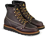 Thorogood Men's 814-4266 American Heritage 6' Moc Toe, MAXwear Wedge Non-Safety Toe Boot, Black Walnut - Black Sole - 10 EE US
