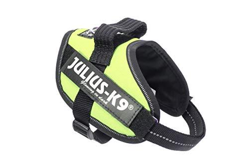 Julius-K9, 16IDC-NE-MM, IDC-Powergeschirr, Hundegeschirr, Größe: Mini-Mini, neon grün