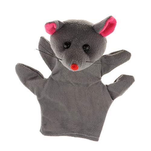 non-brand Marionetas de Mano Muñecas de Animales de Dibujos Animados de Peluche Suave para Narración de Cuentos Infantiles de Niños - Ratón