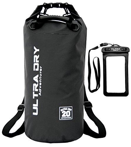 Dry Bag, wasserdichte Tasche, Rucksack, Sack mit Handy-Trockentasche und langem, verstellbarem Schultergurt, ideal für Kajakfahren/Bootfahren/Kanufahren/Rafting/Schwimmen/Camping