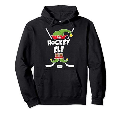 Ice Hockey Elf Geschenk Hockey Weihnachten Elfen Kostüm Pullover Hoodie