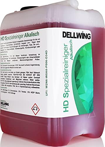 DELLWING HD Spezialreiniger Alkalisch 10L – Premium Ultraschallreiniger Konzentrat zur Reinigung von Autoteilen wie zum Beispiel Vergaser, Zylinderköpfe, Injektoren, Einspritzdüsen und vielem mehr