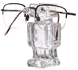 clear cute robot eyeglasses holder
