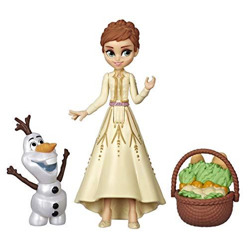 Hasbro Disney Die Eiskönigin kleine Anna Puppe mit Olaf und Korb, inspiriert durch den Film Die Eiskönigin 2