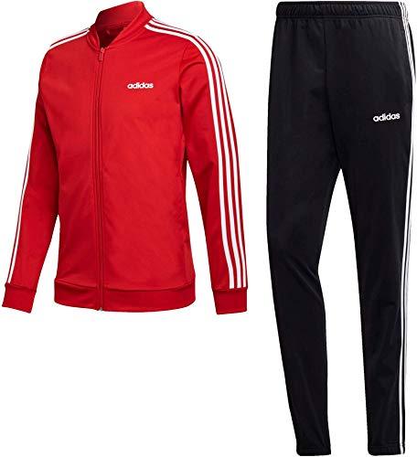adidas Mts B2Bas 3S C Tuta, Uomo, Scarlet/Black/White, M