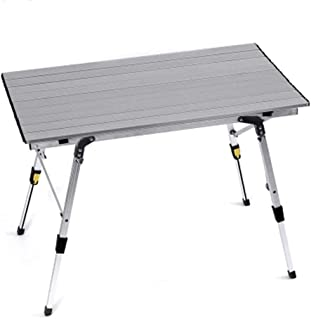 XUHUIZI Furniture-Simple Table Portable Folding Table Desktop Ultra Light Outdoor Folding Table and Chairs Metal Portable ...
