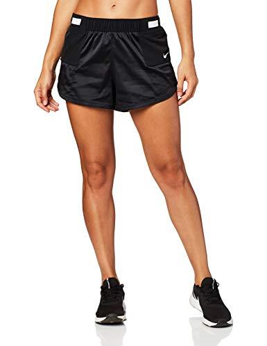 NIKE W Nk Tempo LX Short Rebel Pantaloncini Sportivi, Donna, Black/Black/White/(White), XS