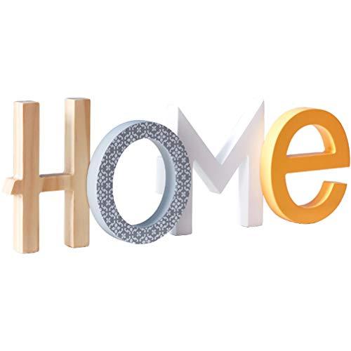 GARNECK 1 unid Palabra Decorativa Signo Arte artesanía Adornos creativos decoración Madera Carta para el hogar Oficina en casa