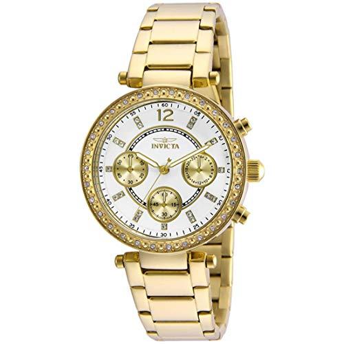 Invicta 21387 Angel Reloj para Mujer acero inoxidable Cuarzo Esfera plata