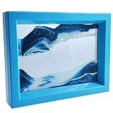 LYPGONE Moving Sand Art Picture Dynamic Sand Picture Flowing Sand Picture Desktop Art Toys Voted Best Gift!(Ocean Heart)