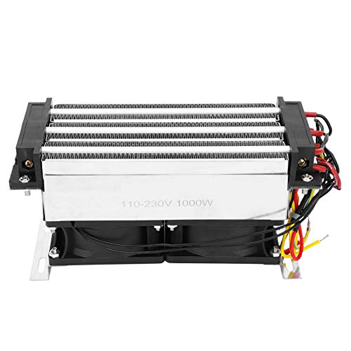 Calentador de aire de cerámica PTC de gran potencia AC220V 1000W, elemento termostático de calefacción PTC, aluminio, protección contra sobrecalentamiento
