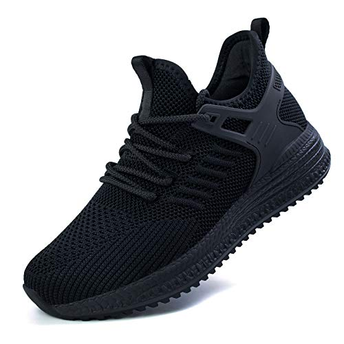 SDolphin Running Shoes Women Sneakers - Tennis Black Workout Walking Gym Athletic Lightweight Casual Comfortable Memory Foam Womens fashion Shoes Ladies Nursing Jogging Breathable Mesh slip on Flats Work Women's Road Running shoes Black Size 8