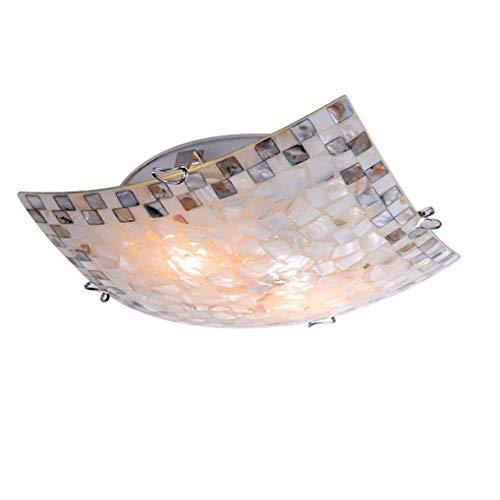 LG Snow Lámparas Luz Cuadrada Color Mediterráneo Cáscara De Vidrio Luz De Techo Personalidad Creativa Luz De Techo Ambiente Ambiente Regulable Luz De Sala LED