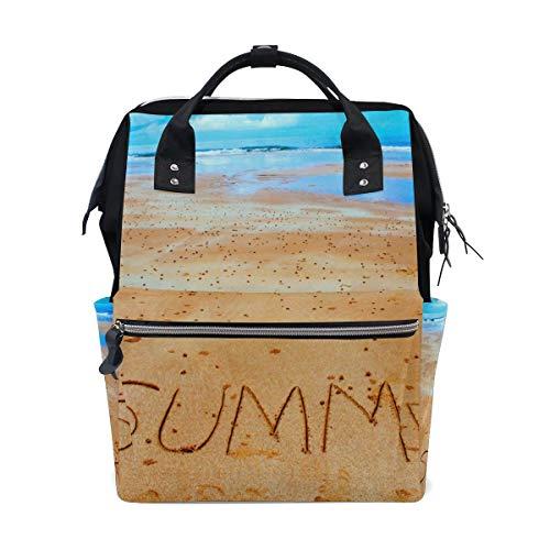 Bolsa de pañales para mamá con mayor capacidad, bolsa de pañales de verano, playa, mochila de viaje