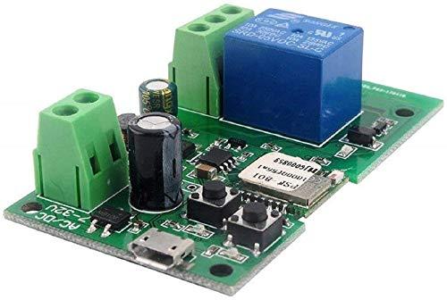 MHCOZY Smart Wireless WiFi Relay Switch, control de voz de su chimenea, trabajo con Alexa Assistant IFTTT (1CH 5-32V)