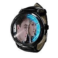 ハリーポッターアニメベルトウォッチ防水時計メンズLEDタッチスクリーン時計男の子ティーンファッション腕時計カジュアルアニメフィギュアおもちゃ子供用ギフト-A1