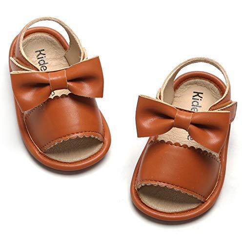 Kiderence Toddler Girl's Sandals Infant Sneaker Summer Flat (12-18Months/Brown/Infant)