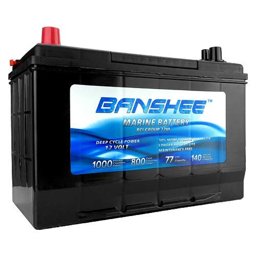 Deep Cycle Marine Battery Replaces D27M 8027-127 Group 27
