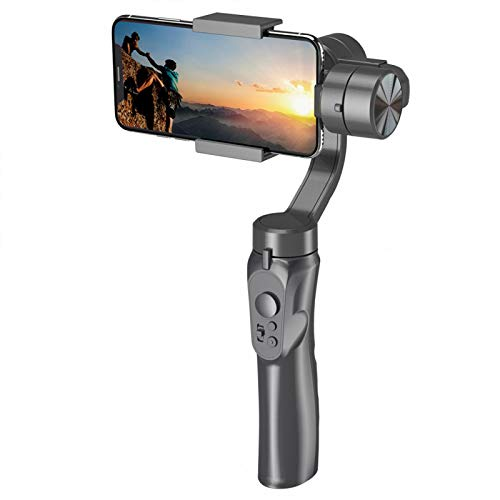 H4 Estabilizador de cardán de teléfono móvil antivibración de mano de 3 ejes, con interfaz USB, para cámara de acción para teléfonos móviles de 4-5,5 pulgadas
