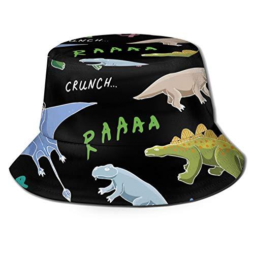 GAHAHA Fischerhüte für Herren, Dinosaurier-Hut, bunt, faltbar, Sonnenschutz, UV-Schutz, Unisex