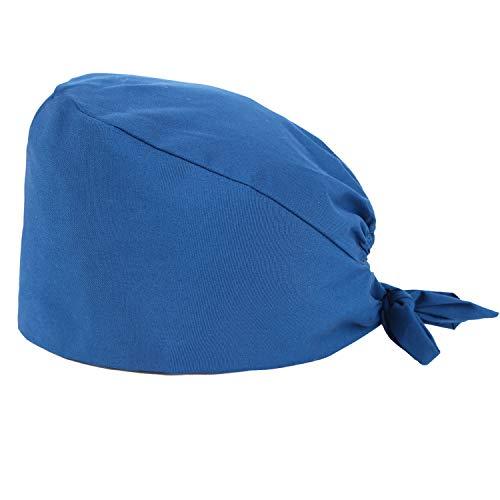 MISEMIYA - Gorro quirúrgico Gorro Sanitarios ajustable - tira absorbente de sudor en la frente - Ref.9001 - Azulina, Pack* 1 Pc