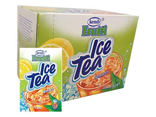 Frutti Instant Getränkepulver ohne Zucker - Geschmackrichtung: Ice Tea Lemon Eistee Zitrone 24er Packung