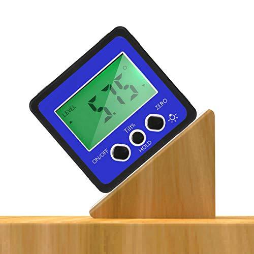Transportador Inclinómetro Digital Preciso Medidor de Ángulo Digital a Prueba de Agua con Pantalla LCD Nivel Caja de Nivel Buscador de Ángulo Caja de Bisel con Base Magnética
