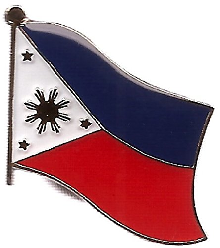 Pack of 3 Philippines Single Flag Lapel Pins, Filipino Pin Badge