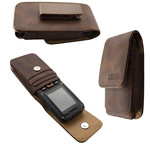 caseroxx Handy Tasche Outdoor Tasche für Cyrus cm 8, mit drehbarem Gürtelclip in braun