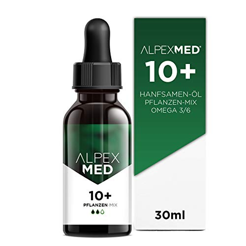 ALPEX-MED® 10+ PFLANZEN-MIX   30ml   Kombipräparat mit 3.000mg natürliche Flavonoide, Terpene, Vitamin E & ungesättigte Omega 3/6 Fettsäuren