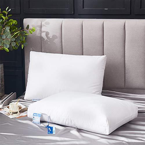 DCGSADFW Almohada de plumón de Ganso Blanco de algodón para Adultos, 95% plumón de Ganso Blanco