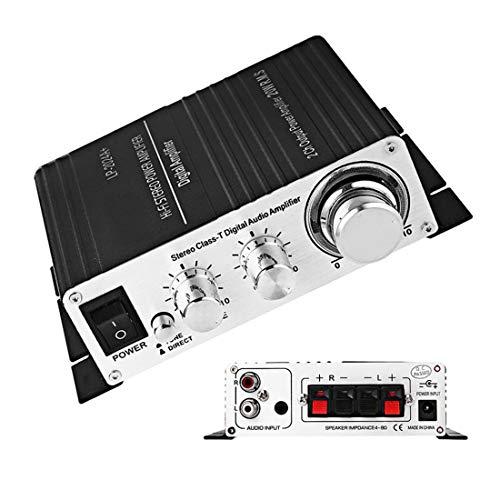 MuChangZi LP-2024A - Amplificatore per auto, classe T 2 x 20 W, stereo HI-FI Class-T Digital Audio 5 A