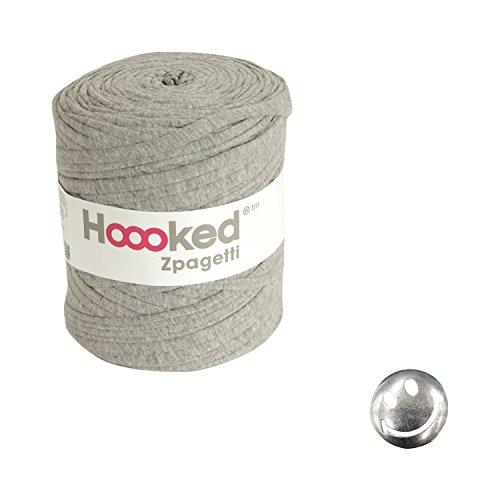 KIYOHARA Hooked Zpagetti (フックドゥズパゲッティ) コンチョボタン スマイル 30mm セット Grey