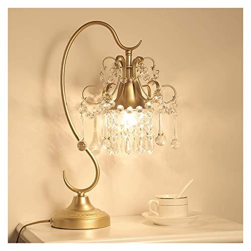 Lámpara de mesa de iluminación / de escritorio multifuncional Lámpara de mesa de cristal transparente Lámpara de estar Sala de estar Dormitorio Estudio de noche Lámpara Base plateada, oro, H 18.5 'Lám