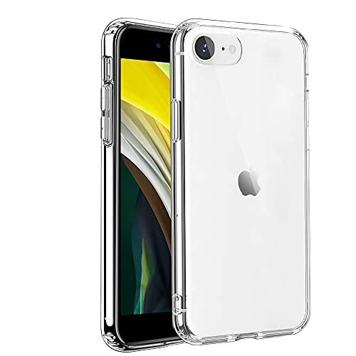 iPhone SE ケース[第2世代] クリア/iPhone7 ケース/iPhone8 透明ケース 耐衝撃 PC+TPU二層構造 超薄型 四隅衝撃吸収 黄変防止 レンズ保護 アイフォン SE 第2世代 カバー/アイフォン 8/アイフォン 7 カバー軽量 Qi急速充電対応/全面透明 4.7インチ專用 スマホケース