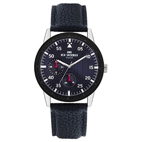 Ben Sherman Herren Analog Quarz Uhr mit Leder Armband WB045U