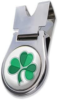 ASBRI Irish Shamrock Belt Clip And Magnetic Golf Ball Marker Golf