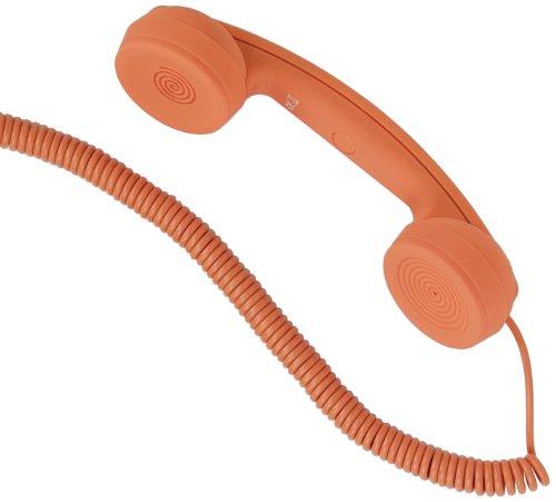 """hi-Fun Hi-Ring, Mini Cornetta Vintage con Filo e Jack Audio da 3.5\"""", Colore Arancione"""