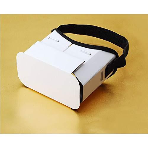 ZengBuks Creative DIY Gafas de Realidad Virtual portátiles Google Cartón Gafas 3D Caja VR para teléfono Inteligente de 4 Pulgadas-6 Pulgadas - Blanco