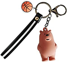 GIFTANY'S HOUSE 3D Three Little Bears Keychain, Cartoon Toys Gifts: The Three Bare Bears, We Bare Bears