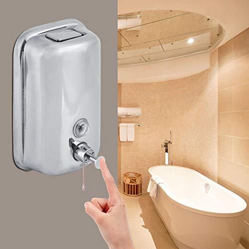Ksde Edelstahl-Flüssigseifenspender, Wandmontage, Shampoo, Lotion, Behälter, Küche, Badezimmer, manuelle Desinfektionsmittel 1000 l