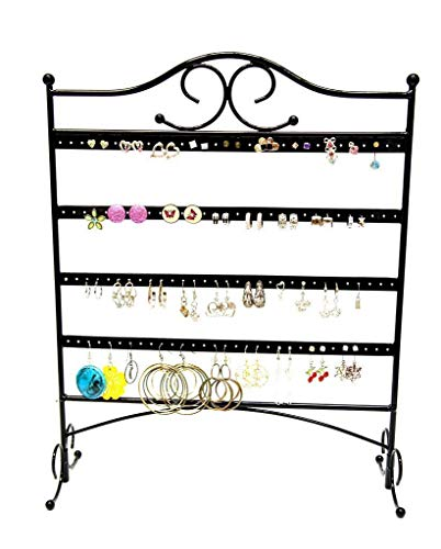 Mango Steam Trellis Jewelry Organizer for Hanging Earrings, Black