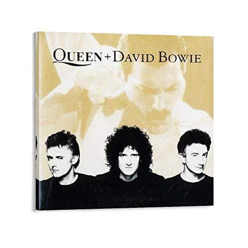 xingqiwu Queen & David Bowie Poster rétro classique sur toile Noir et blanc 50 x 50 cm