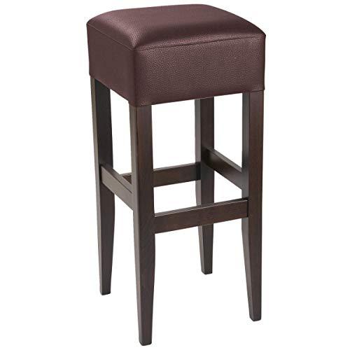 VEGA 10092392 Barhocker Rialto, 35x35x81 cm (BxTxH), Sitz braun, Gestell nussbaum, 2 Stück