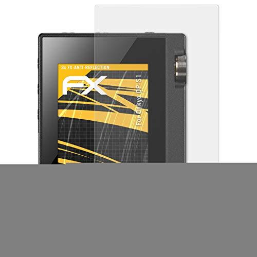 Preisvergleich Produktbild atFoliX Panzerfolie kompatibel mit Onkyo DP-S1 Schutzfolie,  entspiegelnde und stoßdämpfende FX Folie (3X)