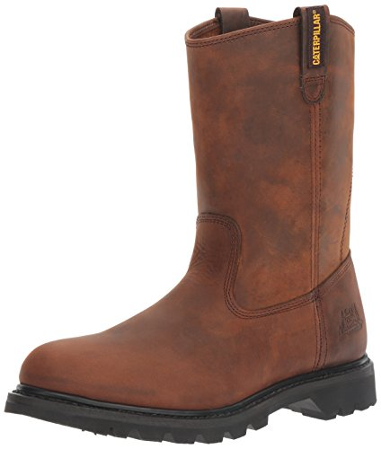 Caterpillar Men's Revolver Pull-On Soft Toe Boot,Wellington Dark Brown,11 W US