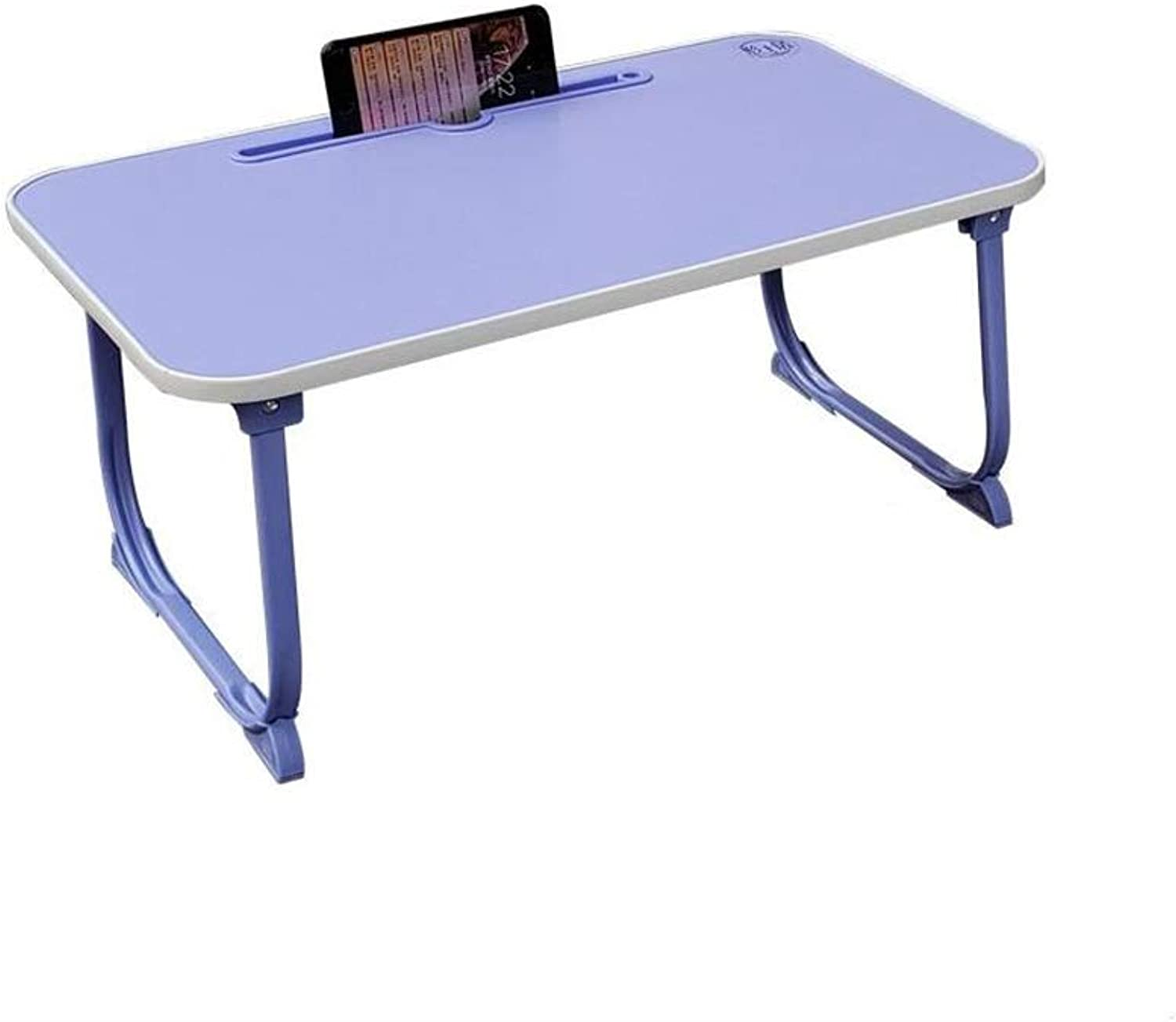 QIDI Folding Table Laptop for Bed Sofa Bedroom Office Breakfast Picnic colorful (color   Purple, Size   T-2)